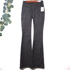 NWT Free People Black Stretch Flare Leg Jeans